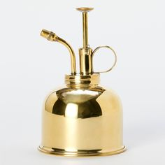 All brass mist sprayer from Haws: ideal tool for indoor gardening. Great for those humidity loving airplants, orchids, and terrariums. Made in England since 1885
