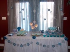 Cake and punch table