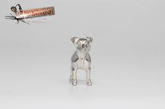 Hungary, Certificate, Terrier, Lion Sculpture, Statue, Sterling Silver, Pendant, Mini, Artist