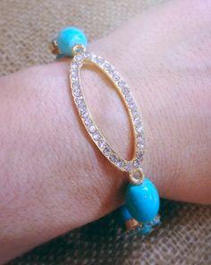 Turquoise Oval Bracelet by AroundMyWrist on Etsy, $12.00