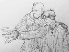 "jasjuliet: ""A young Peter Quill and Yondu Udonta :') This scene was brief but so memorable to me. Found families are very important… """