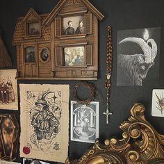 """Elizabeth Prall on Instagram: """"Forever moving things around 💫🖤 . . . . #gothic #goth #gothiclife #gothlife #gothdecor #gothicdecor #gothhome #gothichome #home #dark…"""""""