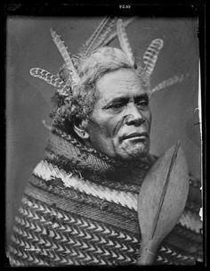 Maori man - Collections Online - Museum of New Zealand Te Papa Tongarewa Once Were Warriors, Maori Tribe, Polynesian People, Anthropologie, Maori People, Maori Designs, Atelier D Art, Maori Art, First Nations