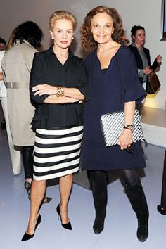 Carolina Herrera and Diane von Furstenberg, two fabulous women; as well as two of my favorite designers!