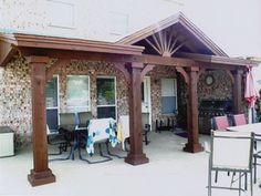 Small Porches And Porch Covers Corrugated patio cover Deck