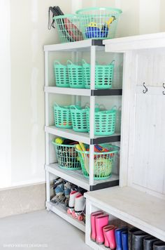 Garage Organization on a Dollar Store Budget | simply kierste.com