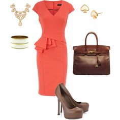 The dress screams me! I wish the purse matched the shoes a little closer.