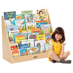 This Wood Book Display from ECR4Kids features birch plywood construction with smooth edges and a durable finish. Five easy-to-reach shelves will keep books of all sizes accessible to younger children. Backed by a lifetime warranty.     Key Features            Five easy-to-reach shelves display book