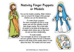 Nativity finger puppets