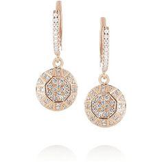 Ileana Makri Dangling Gem 18-karat rose gold diamond earrings