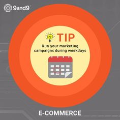 Run the Marketing campaigns during weekdays to get more #leads and #sales and to grow the business in different dimensions. #TipOfTheWeek #eCommerce #Business #Growth #Marketing #Campaigns #tips