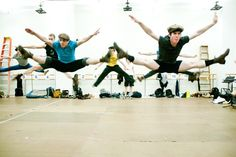 NEWSIES' acrobatic choreography in action