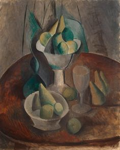 Fruit in a Vase - Pablo Picasso | Oil on canvas, Paintings