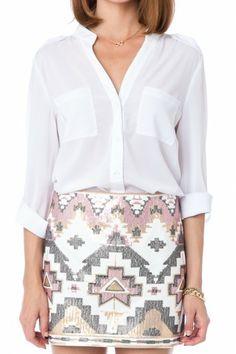 Sequin Tribal Skirt