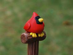 Polymer Clay Cardinal Pen. $9.99, via Etsy. Soooo cute