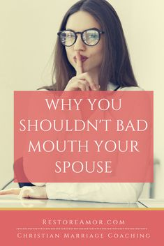 Why You Shouldn't Bad Mouth Your Husband - Restore Amor Advice For Newlyweds, Best Marriage Advice, Save My Marriage, Love And Marriage, Communication In Marriage, Intimacy In Marriage, Biblical Marriage, Healthy Relationship Tips, Healthy Marriage