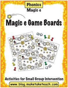 Classroom Freebies: Magic e Game Boards