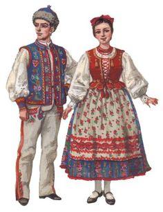 Ethnic Outfits, Ethnic Clothes, Poland Costume, Folk Costume, Costumes, Polish Folk Art, European Dress, Costume Patterns, Folklore