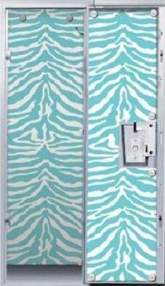 Locker Lookz Cool Wallpaper 4 Your School Locker Aqua Blue Zebra Print Pre Cut  #LockerLookz