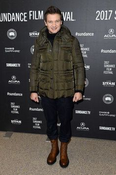 "Actor Jeremy Renner attends the ""Wind River"" premiere on day 3 of the 2017 Sundance Film Festival at Eccles Center Theatre on January 21, 2017 in Park City, Utah."