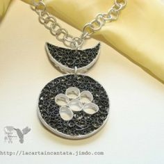 silver paper pendant