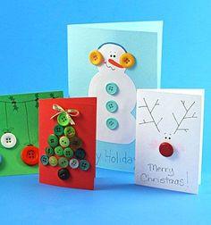 ❤ Karácsonyi képeslapok gombokkal ❤Mindy -  kreatív ötletek és dekorációk minden napra