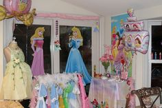 Princess Party Dress Up Station- Do the girls hair and nails then take a group photo