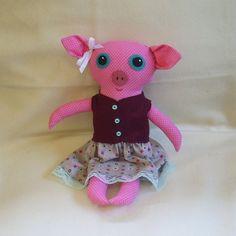 Maude the Big Eyed Pig Doll by RoyalHouseOfWhimsy on Etsy