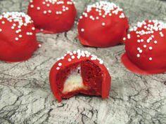 Stuffed Red Velvet Truffles...yum!!!! I loooooove Red Velvet!