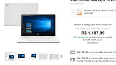 Notebook LG 14U360-L.BJ36P1 Intel Celeron Quad Core 4GB 500GB Tela LED 14 << R$ 118799 >>