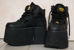 Grunge black Buffalo platform sneakers or 9 / 40 Soft Grunge, Heeled Boots, Shoe Boots, Cowboy Boots Square Toe, Nike Air Max 87, Nike Wedges, Nike Headbands, Black Thigh High Boots, Zapatos Shoes