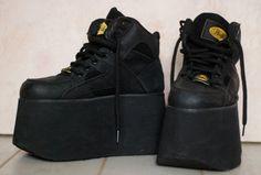 Grunge black Buffalo platform sneakers 8.5 or 9 by ShopShesmovedon