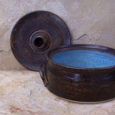 Burnt Clay Ceramic Pottery Lidded Casserole