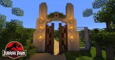 Explore Jurassic Park in Minecraft! Download The Map Now - http://gearcraft.us/explore-jurassic-park-in-minecraft-download-the-map-now/
