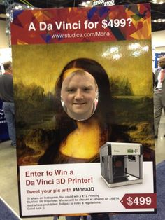 #Mona3D hoping to win a $499 3D printer