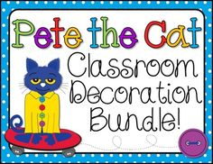 Pete the Cat Room Decor Bundle from Barnard Island on TeachersNotebook.com -  (55 pages)  - This bundle is the perfect accessory for any classroom that is themed around Pete the Cat!