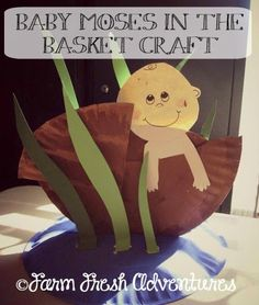 Baby Moses in the Basket Craft Vbs Crafts, Church Crafts, Preschool Crafts, Jewish Crafts, Bible Story Crafts, Bible School Crafts, Sunday School Projects, Sunday School Lessons, Baby Moses Crafts