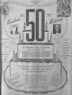 Jan. 3, 1961 - Winkelman's 50th anniversary advertisement. Wausau, Wisconsin.