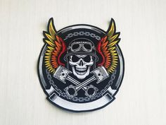 """Death Skull Card Ace Of Spades Iron On Sew On Giant XL Back Patch 10/""""x7.5/"""""""