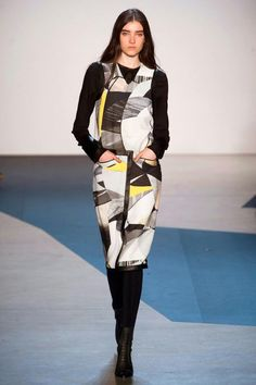 """Helmut Lang Fall 2013 - as nymag observed, this collection is for """"the kandinsky fan in all of us"""""""