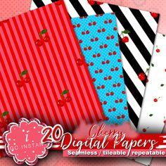 fabrics digital papers cherry cherries!