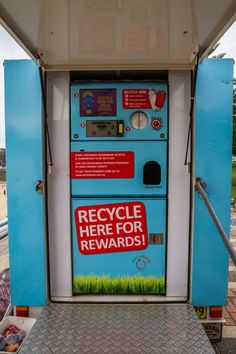 Have you ever used a REVERSE vending machine? Here's your chance!