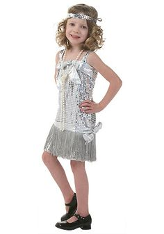 Silver Toddler Flapper Costume