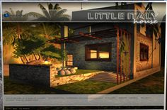 """Little Italy    I wanted to share this cute house that I purchased called """"Little Italy"""". It comes fully furnished and is only 250 Linden. Click pic to go to the blog post. #sl #secondlife"""