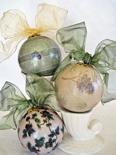 decoupaged decorations