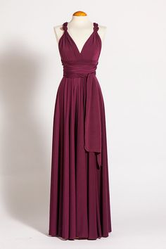 Marsala Floor Length Infininty Dress Marsala Dress Long by mimetik