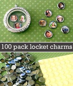 Kit Makes 100 Mini Round Picture Charms For Floating In Your Glass Lockets