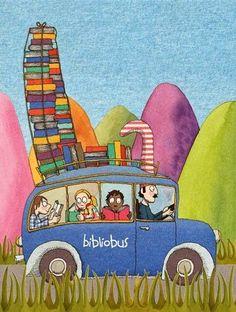 """También conocidos como""""bibliotecas viajeras"""" son autobuses que proporcionan a lugares o grupos sociales ajenos a una prestación bibliotecaria estable un pequeño rincón donde poder ponerse en conta…"""