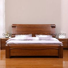 Solid Wooden Bed Modern Double Beds picture from Qingdao Yuhang Household Products Co. view photo of Wood, Solid Wooden, Double Beds.Contact China Suppliers for More Products and Price. Double Bed Designs, Wooden Bed Design, Bedroom Furniture Design, Furniture, Bed Design Modern, Bedroom Bed Design, Wood Bed Frame, Modern Double Beds, Solid Wood Bed