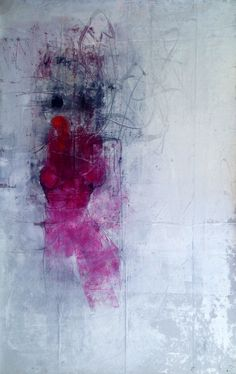 """Khara Oxier, Feeling So Small, abstract figure 50"""" x 34"""" oil"""